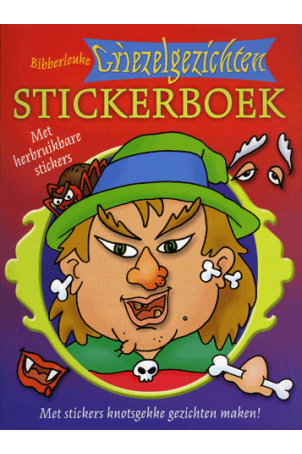 Bibberleuke Griezelgezichten Stickerboek