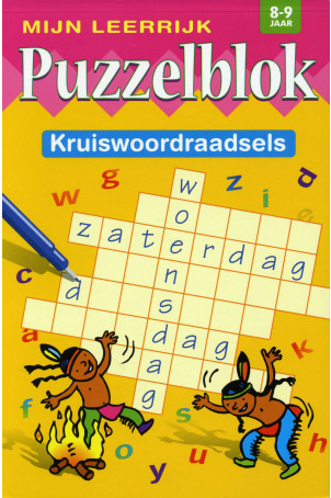 Mijn Leerrijk Puzzelblok Kruiswoordpuzzel  8 tot 9 Jaar
