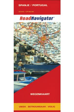 RoadNavigator Wegenkaart Spanje/Portugal