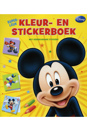 Superleuk Kleur Stickerboek Mickey