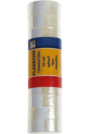 Tape 15mmx10m 10 rolletjes