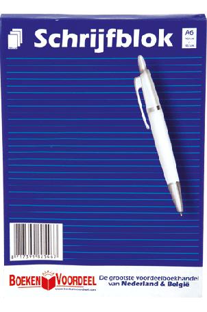 Schrijfblok A6 (Boekenvoordeel)