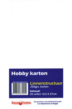 Hobbykarton Linnenstructuur Wit