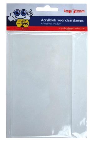 Acrylblok 14x8 cm