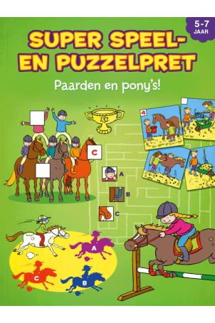 SUPER SPEEL- EN PUZZELPRET 5-7 PAARDEN