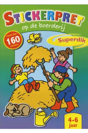 Stickerpret op de Boerderij Superdik