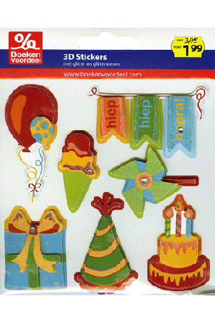 3D stickers ballon Party2013
