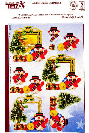 3d kaarten maken kerst