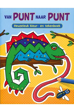 Van punt naar punt Reuzeleuk Kleur en Stickerboek