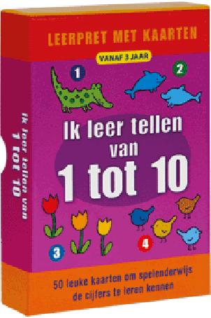 Leerpret met kaarten: tellen van 1 tot 10