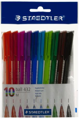 Staedtler balpenset 10 kleuren