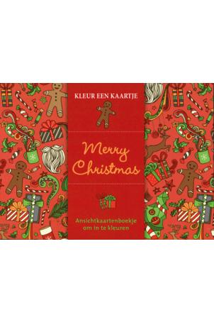 Kleur een kaartje Merry christmas