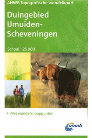 ANWB Topografische wandelkaart Duingebied IJMuiden-Scheveningen