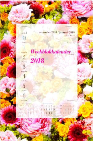 Weekblok 2018 violet