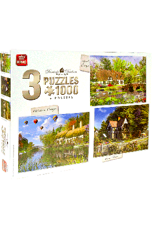 Puzzel 3in1 Cottage collectie (1000 stukjes)
