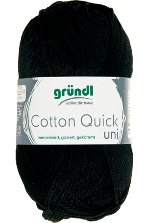 Cotton quick uni zwart 50 gram