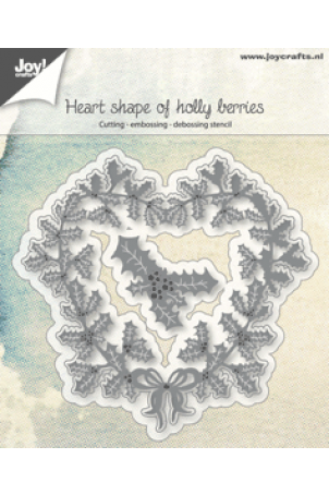 Joy snijmal Heart shape of holly berries