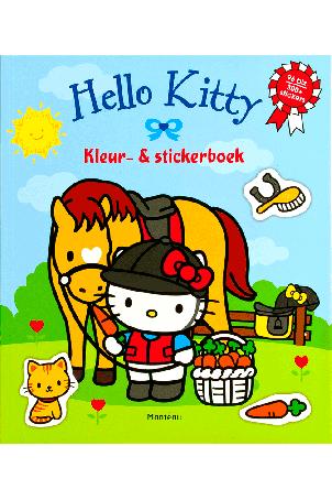 Hello Kitty kleur en stickerboek