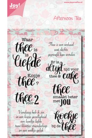 Joy crafts clearstempel teksten afternoon tea