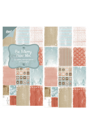 Joy papierblok be merry