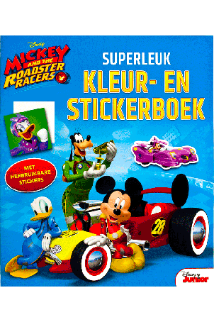 Mickey and The Roadsters Racers Superleuk kleur- en stickerboek