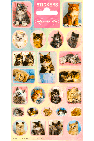 Sticker sheet paper Softies & Cuties Cats