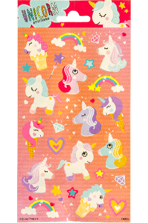Sticker Sheet paper unicorns