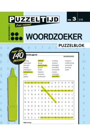 Puzzelblok woordzoeker 5 punt nr.3