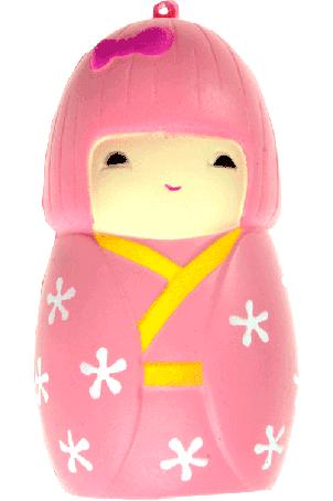 Squishy Japans poppetje (roze)