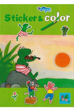 Kikker sticker- en kleurboek
