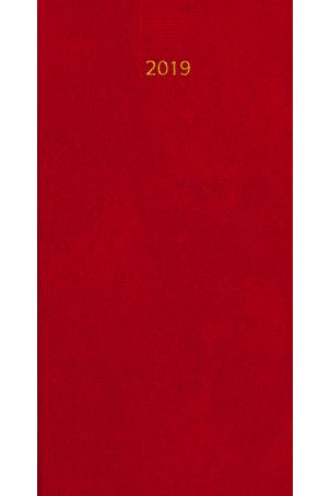 Zakagenda Minitimer staand 2019 rood nr 407