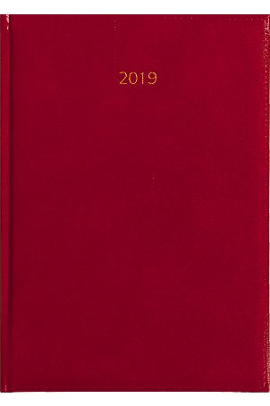Weektimer agenda A5 2019 rood nr 201