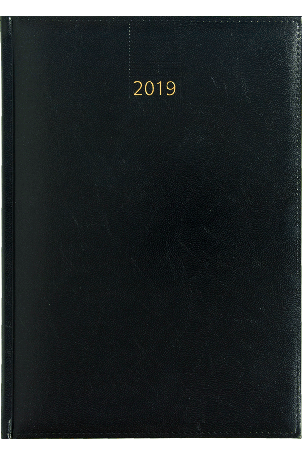 Weektimer agenda A5 2019 zwart nr 200