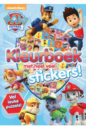 Paw patrol kleur- en stickerboek