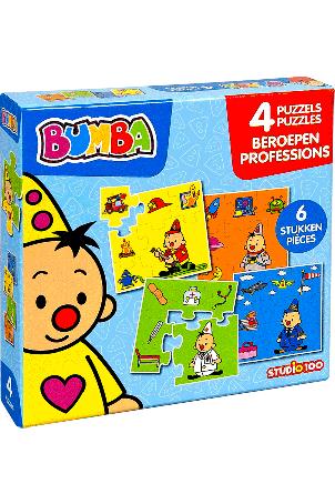 Bumba - 4 in 1 puzzel - beroepen