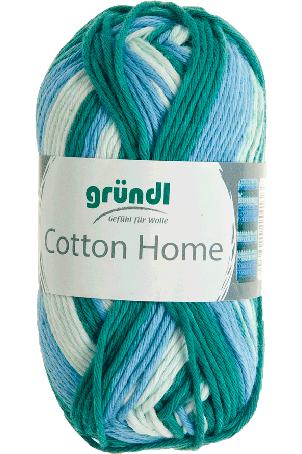 Cotton home 07 licht blauw groen wit 50gr
