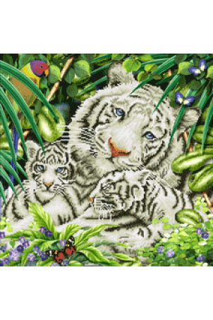 Diamond dotz white tigers & cubs