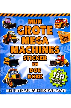 Mijn grote mega machines sticker en doe boek