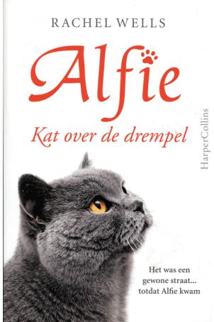 Alfie kat over de drempel
