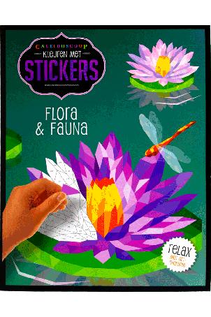 Kleuren met stickers Flora & Fauna