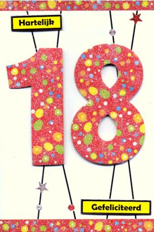 """18 jaar jarig Boekenvoordeel, verrast je met boek, hobby en cadeau > Kaart Jarig  18 jaar jarig"""" title=""""18 jaar jarig Boekenvoordeel, verrast je met boek, hobby en cadeau > Kaart Jarig  18 jaar jarig"""" width=""""200″ height=""""200″> <img src="""
