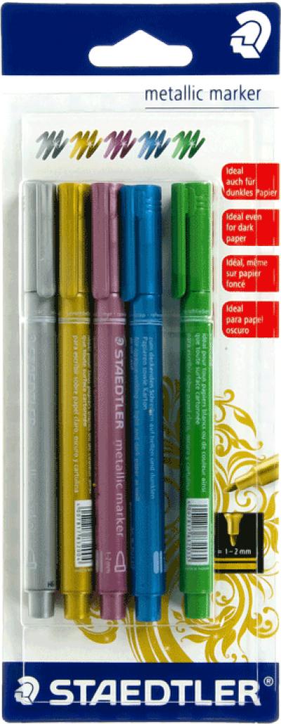 Staedtler metallic marker 5 kleuren