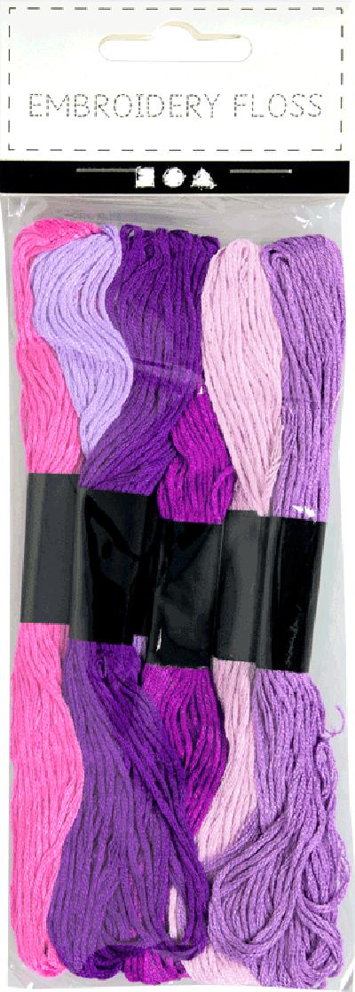 Borduurgaren dikte 1mm kleur paars harmonie
