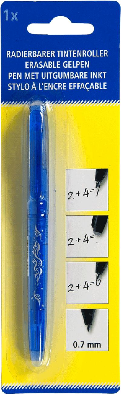 Pen met uitgumbare inkt