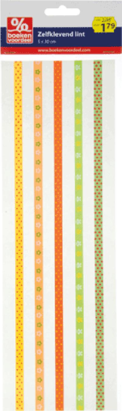 Zelfklevend lint Spring Geel-Oranje