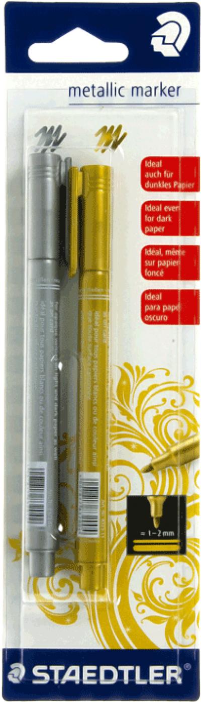 Staedtler metallic marker zilver en goud