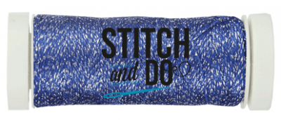 Stitch & Do borduurgaren sparkle kobalt