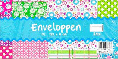 Envelop wit 25 stuks (22 x 11 cm)