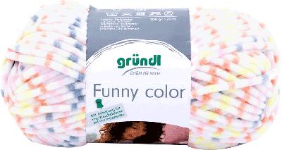 Funny color 06 garen kleur oranje-grijs