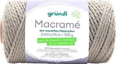 Macramé garen olijf groen